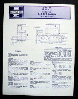 Bucyrus Erie 1967 40 T Construction Brochure