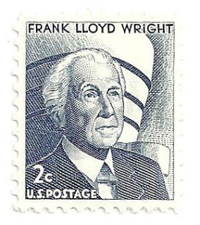 frank lloyd wright 2c stamp