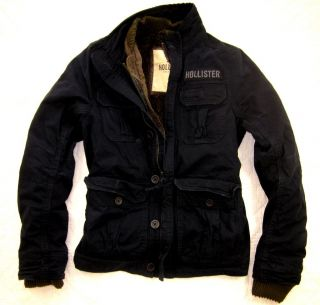 NWT Hollister HCO Mens Winter Jacket Coat Jumper Outerwear Faux Fur 2