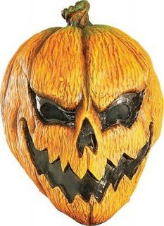 Scary Pumpkin Headless Horseman Halloween Costume Mask