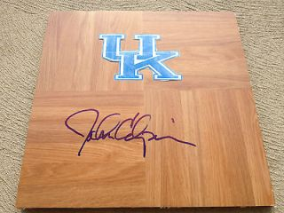 Kentucky Wildcats John Calipari Signed logo floorboard W/coa