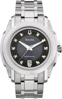 NEW BULOVA PRECISIONIST LOMHWOOD DIAMOND DIAL MENS WATCH 96D110