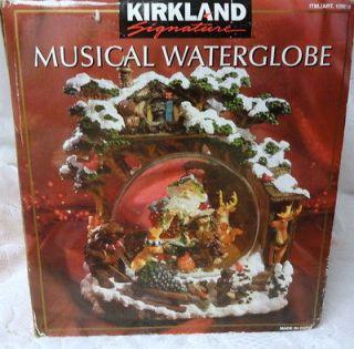 Kirkland Christmas Santa Bears Musical Water Snow Globe Snowdomes RARE