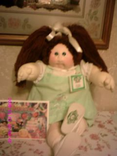 CABBAGE PATCH DOLL AUBURN LITTLE PEOPLE SOFT SCULPTURE+NAME TAG