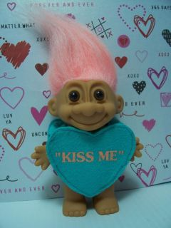 KISS ME CANDY HEART   5 Russ Troll Doll   VERY RARE