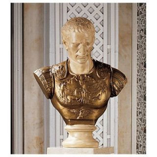 Roman Veni Vidi Vici General Julius Caesar Home Gallery Bust Sculpture