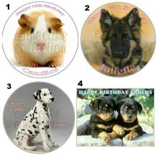 PUPPIES   GUINEA PIG   PETS EDIBLE ICING / CAKE TOPPER   11 sizes