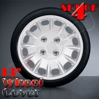 4pcs 13 Universal Plastic Car Wheel Cover Hubcap 12 Spoke with Wire