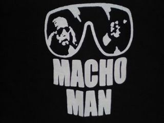 Vintage Distressed Macho Man T Shirt. All Star Wrestling 80s Legend