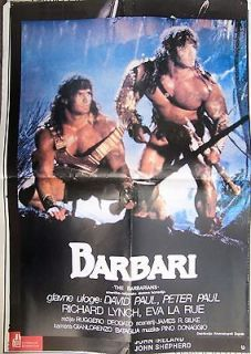 THE BARBARIANS DAV ID & PETER PAUL/EVA LA RUE ORIGINAL YUGOSLAV MOVIE