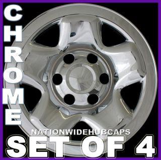 TACOMA Chrome Skins 6 Lug Rim Hub Caps Full Covers 16x7 Steel Wheel