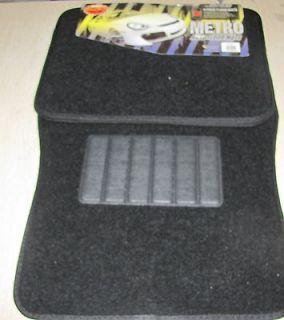 Brand New Auto Car Floor Mat Rug Set Black.