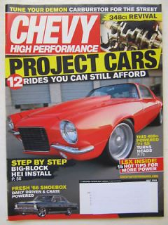 Chevy High Performance July 2009 Project Cars