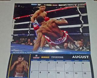Marquez ROBERT GUERRERO 2011 Boxing Calendar Golden Boy VICTOR ORTIZ