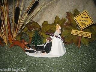 HUMOROUS WEDDING RABBIT HARE BEAGLE DOG HUNTING CAKE TOPPER PRIORITY
