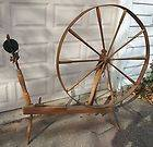 ANTIQUE Country Primitive Wood Spinning Wheel Wool Yarn