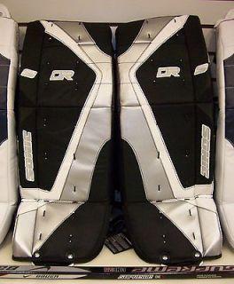 New DR X3 ice hockey Goalie pads Black/White/Si lver 22 Yth. youth