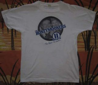 vtg 80s THE HONEYMOONERS t shirt JACKIE GLEASON ralph kramden NORTON