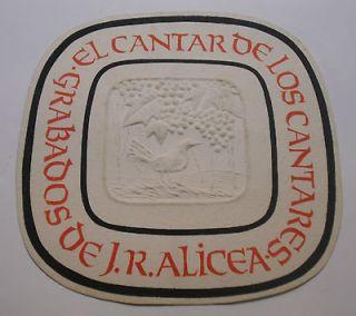 WOODCUT / XILOGRAFIA CANTAR DE LOS CANTARES BY J. ALICEA PUERTO RICO