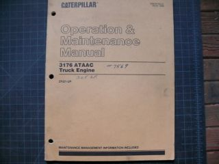 CAT Caterpillar 3176 OPERATION MAINTENANCE MANUAL DIESEL TRUCK ENGINE