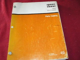 Case 1840 Uni Loader Skid Steer Dealers Parts Manual