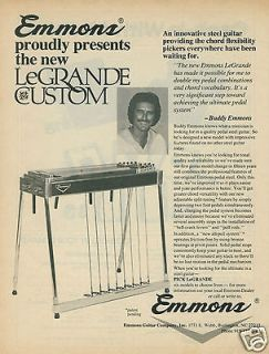 1979 EMMONS LeGrande Custom Pedal Steel Guitar Original Ad