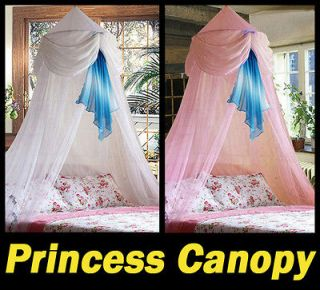 New White/Pink Baby Crib Bed Canopy Mosquito Netting Cecilia Princess