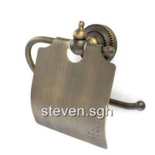 Antique Brass Bathroom Toilet Paper Roll Holder FG 509