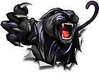 Panther rip vinyl graphic truck race car go kart window or hood decal