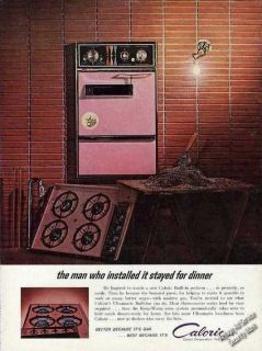1962 Caloric Ultramatic Built in Oven & Range Collectible Vintage Ad
