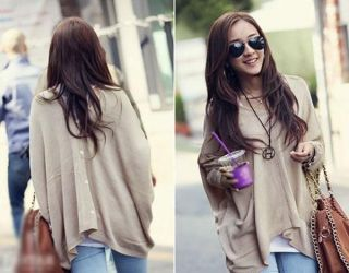 Womens Casual Loose Big Skull Long Cool Knit Sweater Cardigans