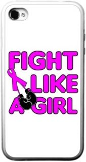Like A Girl Boxing Breast Cancer iPhone Silicone Rubber Case 4 or 4s