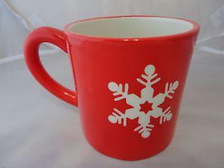 Cracker Barrel Coffee Mug Christmas Holiday Snowflake Merry Merry