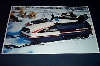 77 POLARIS ELECTRA & TRAIL MATE SNOWMOBILE POSTER tx vintage sno