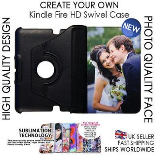 Personalised Kindle Fire HD 7 Leather Case Cover Custom Photo Create