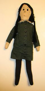 ABORIGINAL WEDNESDAY ADDAMS CLOTH DOLL Charles Addams Family Ultra