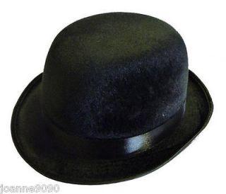 FELT BOWLER HAT CHARLIE CHAPLIN VICTORIAN GENT COSTUME FANCY DRESS