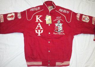 New Red Centennial Kappa Alpha Psi Heavy Snap Up Fraternity Jacket Big