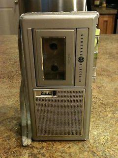 General Electric Micro Cassette Tape Recorder Retro Japan 3 5338A 80s