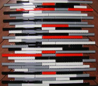 Glass tile red subway for backsplash kitchen bathroom d030 for Red and black kitchen backsplash