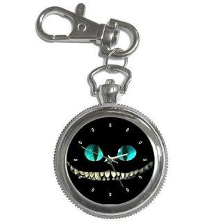 Alice In Wonderland Cheshire Cat Key Chain Pocket Watch