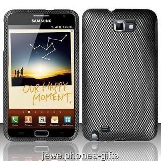 Galaxy Note i717/i9220 (AT&T) Black Checkers Hard Phone Case Cover