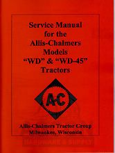 ALLIS CHALMERS WD WD 45 Tractor Service Repair Manual