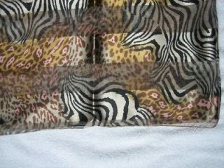 NEW Animal Print Leopard Cheetah Zebra Scarf 59 x 13