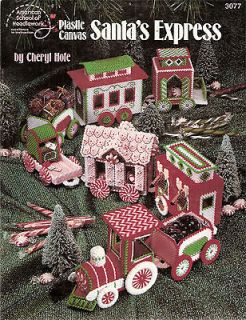 plastic canvas pattern book 3007 by Cheryl Hole Train Christmas