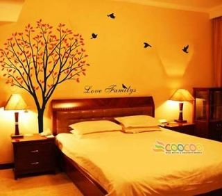 Wall Decor Decal Sticker Removable vinyl large tree 72