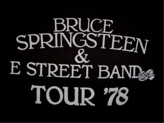 Bruce Springsteen E Street 1978 Concert Tour T Shirt