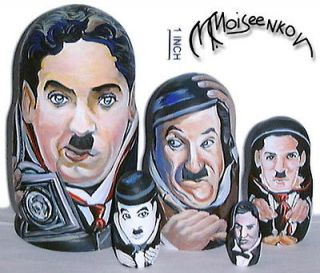 Charlie Chaplin Legendary Comic Russian Nesting Dolls