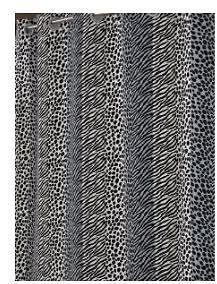 New Hookless Built In Peva Liner Fabric Shower Curtain Animal Print