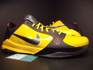 09 Nike Zoom KOBE V 5 BRUCE LEE BL DEL SOL YELLOW BLACK COMET RED
